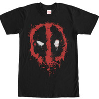 DeadPool Black Long-Sleeve Tshirt - Splatterd Logo