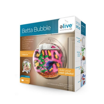 eLive Custom Photo Mini Betta Bubble Bowl Tank