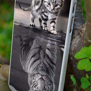 cover,case fits iPhone & iPod  models, cat, tiger, reflected in mirror