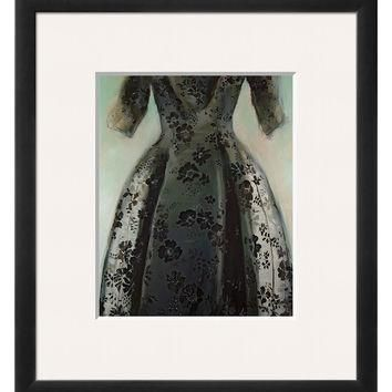 Art.com Black Balenciaga Dress by Richard Nott (Framed)