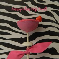 12 Cosmopolitan Cake Pops Girls Night Out Bachelorette Party Favors