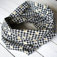 Mizzou Infinity Scarf / Black and Gold Infinity Scarf / Circle Scarf