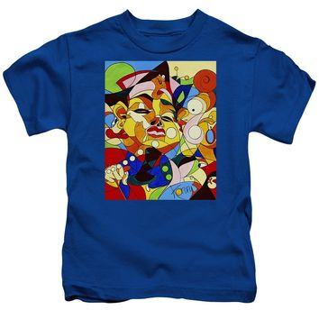 Cartoon Painting With Hidden Pictures - Kids T-Shirt