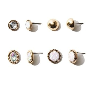 Iridescent Stud Earring Set
