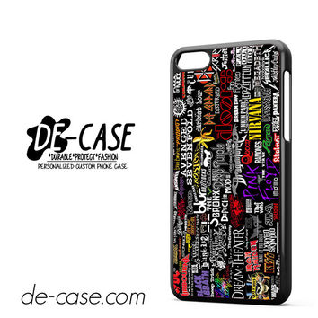 Metal Band Logo Metallica Sticker Bomb ACDC DEAL-7071 Apple Phonecase Cover For Iphone 5C