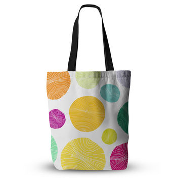 "Anchobee ""Eolo"" Multicolor Circles Everything Tote Bag"