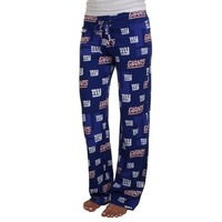 New York Giants Ladies Keynote Printed Knit Pant - Royal Blue
