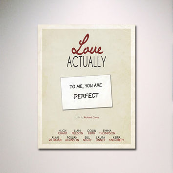 Love Actually Inspired Minimalist Movie Poster