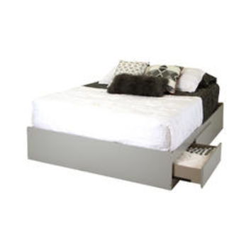 Vito Queen Mates Bed (60'') with 2 Drawers Soft Gray - Kmart