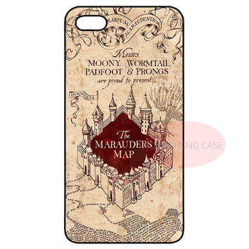 Harry Potter Map Cover Case for Samsung S3 S4 S5 Mini S6 S7 Edge Plus Note 2 3 4 5 LG G3 G4 iPhone 4S 5 5S 5C 6 6S 7 Plus iPod 5