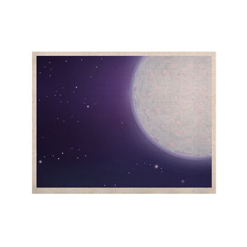 "Fotios Pavlopoulos ""Full Moon"" Night Sky KESS Naturals Canvas (Frame not Included)"