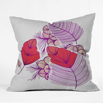 Gabi Sea Leaves Throw Pillow