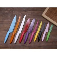Gela 10-piece Non-stick Coated Colorful Knives | Overstock.com