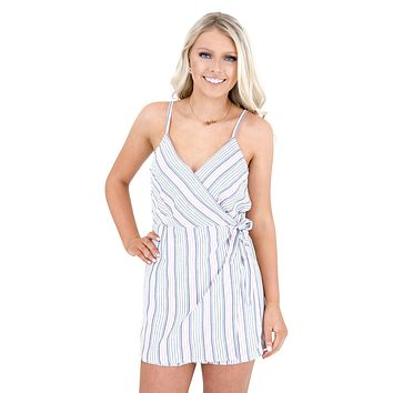 Women's BB Dakota Nice Lines Faux Wrap Romper