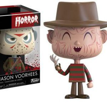 Horror Nightmare on Elm Street and Friday the 13th Freddy and Jason VYNL Figure 2-Pack