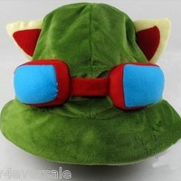 new Brand New Cosplay Fashion Army Green League of Legends LOL Teemo Game Hat