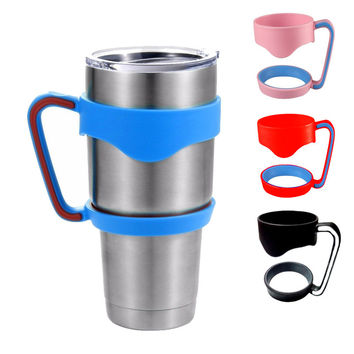 New Portable Plastic Black Water Bottle Mugs Cup Handle For YETI 30 Ounce Tumbler Cup Hand Holder Fit Travel Drinkware C2305P20