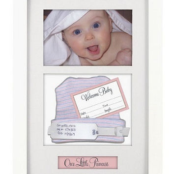 Baby ID Bracelet + Birth-Record White(With Pink And Blue Title Labels)