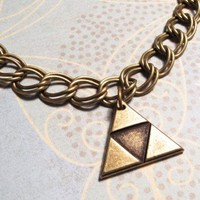 Bronze Triangle Bracelet inspired by Legend of Zelda Triforce