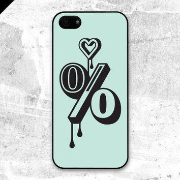 iPhone 5 case - A hundred per cent love : emerald, mint, teal - also available in iPhone 4 and iPhone 4S size