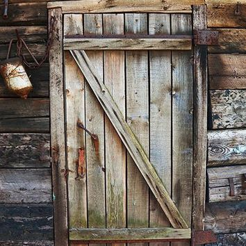 Cabin Door Printed Photography Backdrop / 1012