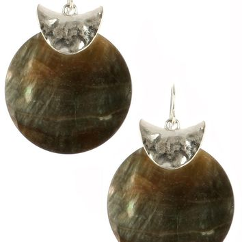 Oyster Shell Finish Round Earrings 103