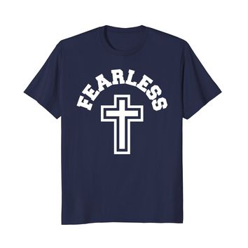 Christian Cross Fearless Jesus God Angel Bible Faith Shirt