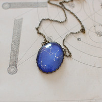 Sagittarius Constellation Necklace. Sagittarius Zodiac Necklace. December Birthday.