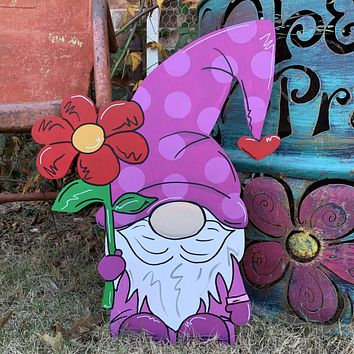 Gnome one like you Valentine's Day Wooden Door Hanger
