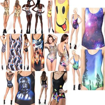 Kophia 2018 Big Sale Sexy Bathing Suit Monokini Swimsuit One Piece Women Swimwear Doodle Print Bodysuit Animal Pattern Beach Wea