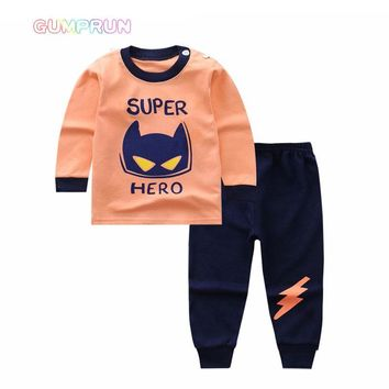 Winter baby boy clothes Cute Cartoon Printed Boy's clothing long sleeve Children Clothing set warm Boys Winter Clothes For Kids