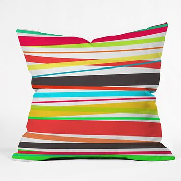 Rebecca Allen Color Parade Throw Pillow