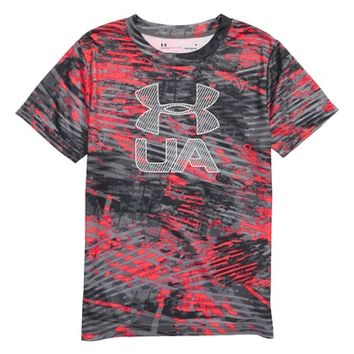 Under Armour Vertigo Logo HeatGear® Graphic Shirt (Toddler Boys & Little Boys) | Nordstrom
