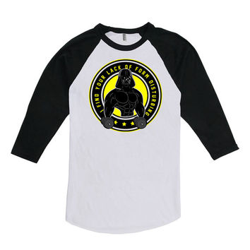 Funny Workout Shirt Gym T Shirt Fitness Clothing I Find Your Lack Of Form Disturbing 3/4 Sleeve Shirt American Apparel Unisex Raglan WT-202