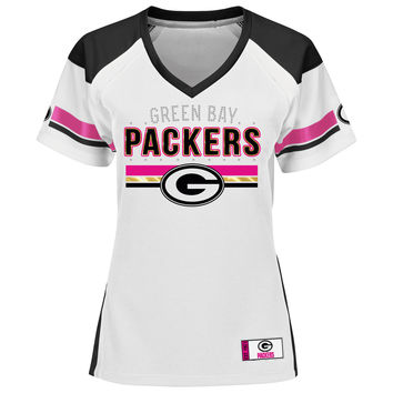 Women's Green Bay Packers Majestic Pink Draft Me VII T-Shirt