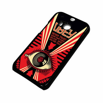 OBEY NEVER TRUST HTC One M8 Case Cover