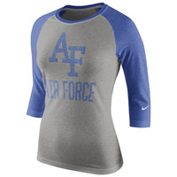 Air Force Falcons Nike Women's Raglan Long Sleeve T-Shirt – Gray
