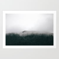 Forest Fog X Art Print by Hannah Kemp
