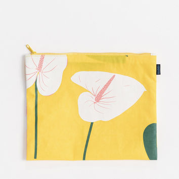 Medium Flat Zip Pouch Anthurium