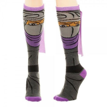 Teenage Mutant Ninja Turtles TMNT Shredder Cape Knee High Socks