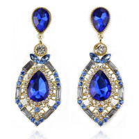 luxury elegant ocean blue rhinestone big fashion drop earrings 2015 Hot Sell Vintage Earings Accessories = 1753519236