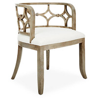 Lily Chair, Ivory Linen - Accent Chairs - Chairs - Living Room - Furniture | One Kings Lane
