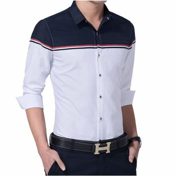 Mens Two Tone Button Down Shirt