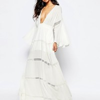 The Jetset Diaries Hammock Maxi Dress in White