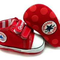New Chuck T Soft Sole Baby Girl Boy Strap Crib Shoes. Age 3-6, 6-12, 12-18 Mths