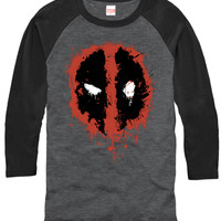 DeadPool Grey Long-Sleeve Tshirt - Splatterd Logo