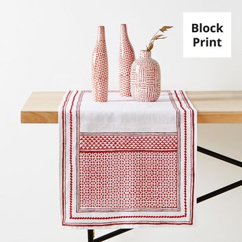 GEOMETRIC PRINT LINEN TABLE RUNNER - TABLE RUNNERS - KITCHEN & DINING | Zara Home United States of America
