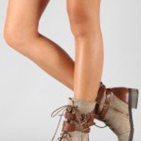 Bamboo Croft-12 Two Tone Military Mid Calf Boot