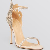 Sergio Rossi Ankle Strap Evening Sandals - Matisse Filigree High Heel
