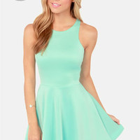 LULUS Exclusive Wanna Race? Mint Green Dress